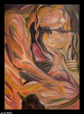 In the Heat of Passion by Champlin nude abstract representational erotica
